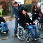 Das Rollstuhltraining ist Bestandteil der Einführungsveranstaltung
