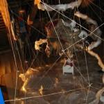 Annabelle Schuster: Dreiviertelansicht der Rauminstallation