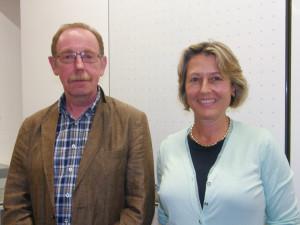 Der 2. Vorsitzende Norbert Freitag und die neue 1. Vorsitzende Julia Naeßl-Doms