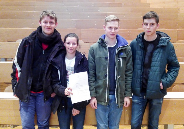 Unser erfolgreiches Team: Jérome Kreuzer, Isabel Holler, Daniel Preysing, Kai Wagner
