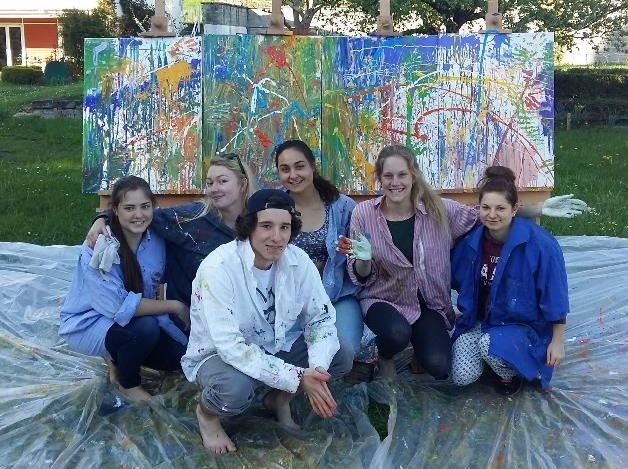 Action Painting im Internat