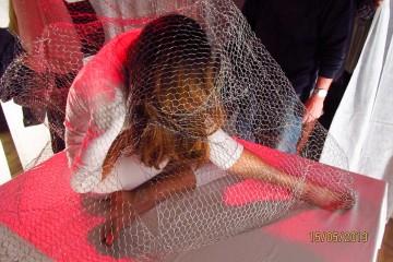Priska Lang, Performance mit plastischem Objekt