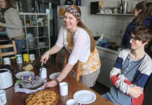 Geburtstagsfeier in der Heimi-Küche